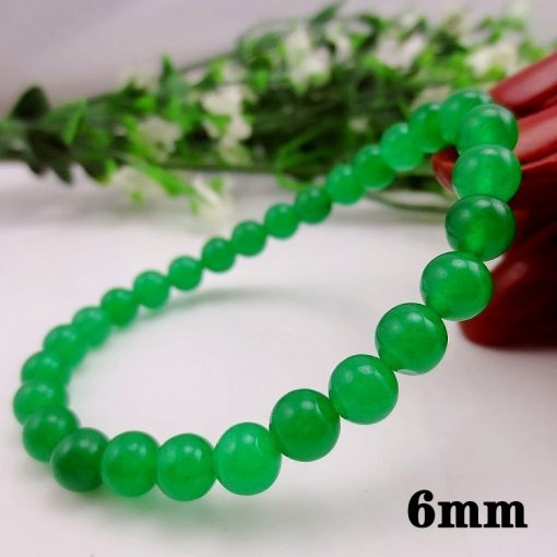 6-12MM green chalcedony DIY loose beads accessories wholesale GLGJ-184