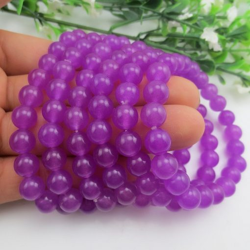 6-12mm natural purple chalcedony female bracelet wholesale GLGJ-175
