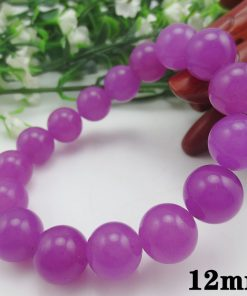 6-12mm natural purple chalcedony female bracelet wholesale GLGJ-175