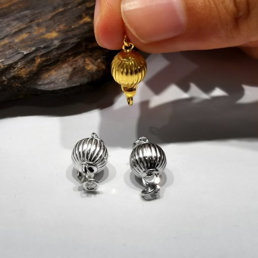 S925 silver handmade accessories DIY necklace bracelet magnet ball buckle YYZ-196