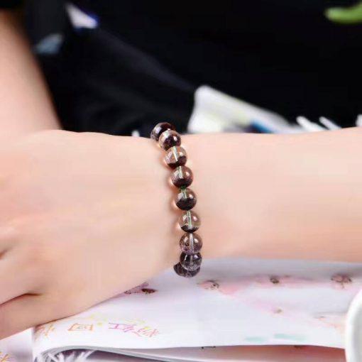 9-10mm natural genuine red ghost crystal bracelet GLGJ-132