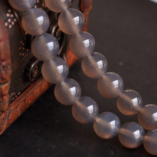Selected A grade 14mm natural gray agate gemstone diy loose beads accessories GLGJ-118