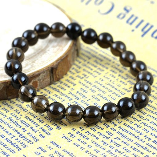 5-10mm natural brown crystal finished bracelet factory wholesale GLGJ-153