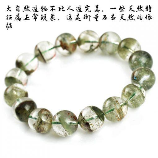 6-14mm natural green ghost men and women crystal bracelet wholesale GLGJ-150