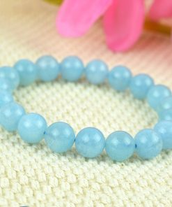 Brazil 6-14mm natural aquamarine bracelet wholesale GLGJ-140