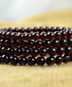 Fine 4A grade 5-8mm wine red garnet bracelet GLGJ-142