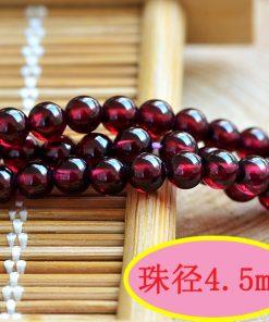 Natural boutique 6A Brazilian rose red garnet loose beads 3-8mm garnet round beads accessories GLGJ-128