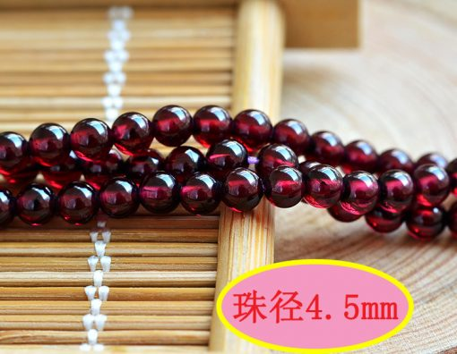 Natural boutique 6A Brazilian rose red garnet loose beads 3-8mm garnet round beads accessories GLGJ-128