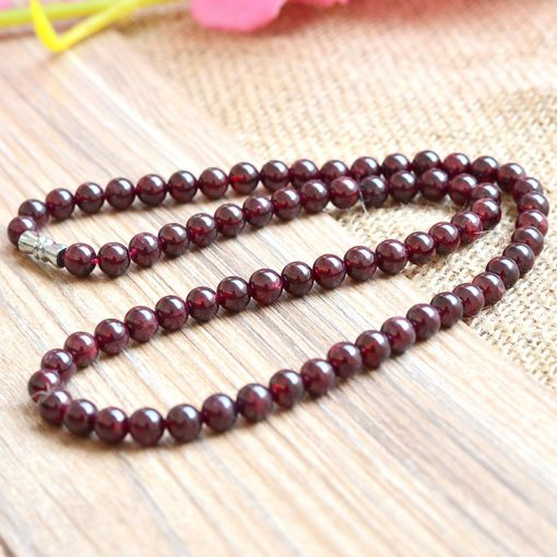 6mm AA grade natural garnet necklace wholesale about 18 inches long GLGJ-192