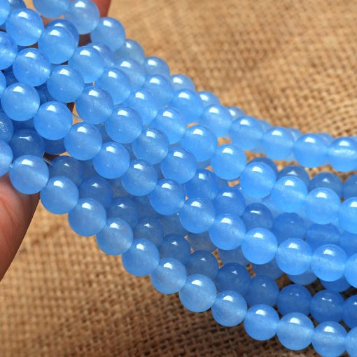 6.8.10mm sky blue chalcedony DIY loose beads accessories about 39cm string GLGJ-178