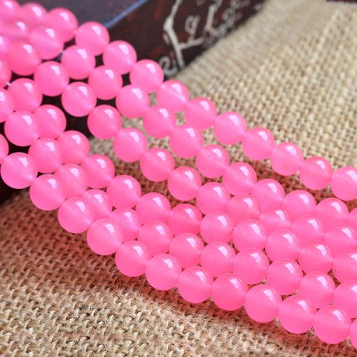 6-12MM Pink Chalcedony Round Bead DIY Accessories GLGJ-182