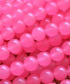 6-12MM Pink Chalcedony Round Bead DIY Accessories GLGJ-182
