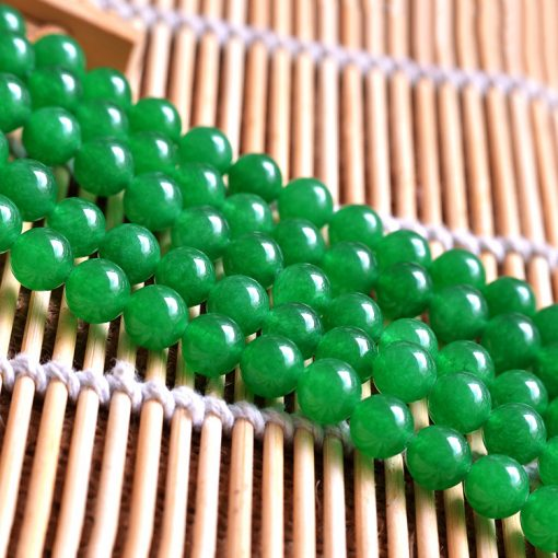 6-12MM green chalcedony DIY loose beads accessories wholesale GLGJ-183