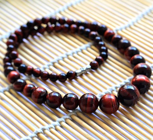 6-14mm Natural Red Tiger Eye Stone Tower Chain Wholesale GLGJ-171