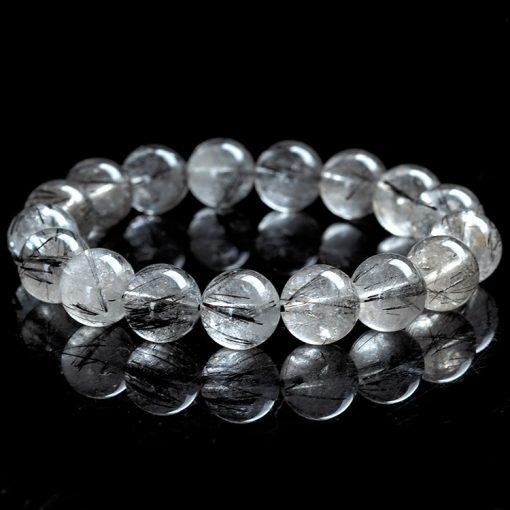 7-11mm natural black hair crystal simple wild bracelet GLGJ-141
