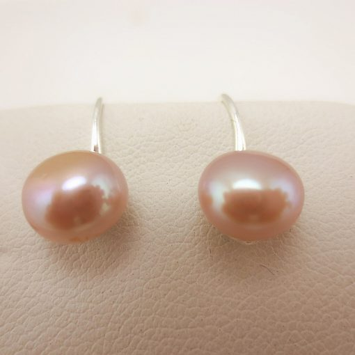 8mm Natural Freshwater Pearl Boutique 925 Silver Fashion Earring Wholesale Pink White GLGJ-158