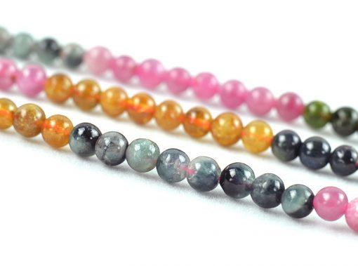 King of Crystal-4.5-5.5mm natural tourmaline loose beads DIY beads GLGJ-139