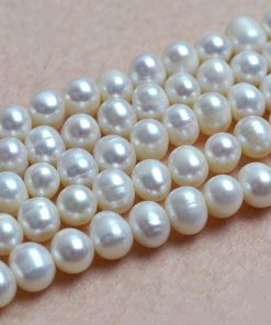 8 × 10mm natural freshwater pearl potato shape DIY semi-finished white pearl GLGJ-159