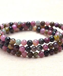 5mm Fine Grade A Natural Tourmaline Three Circle Bracelet Wholesale GLGJ-149