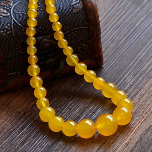 6-14mm Malaysian Chalcedony Lady Tower Chain Necklace GLGJ-165
