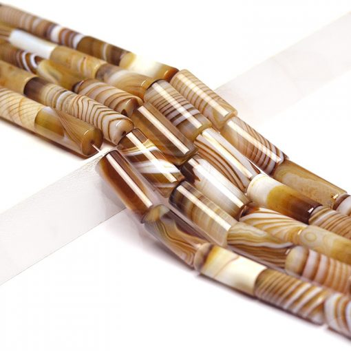 Natural cylindrical agate loose beads accessories wholesale GLGJ-100