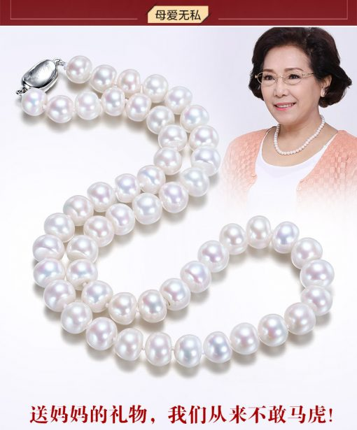 10 × 7mm Natural freshwater pearl fashion and elegant ladies necklace wholesale affordable price good choice for gift GLGJ-157