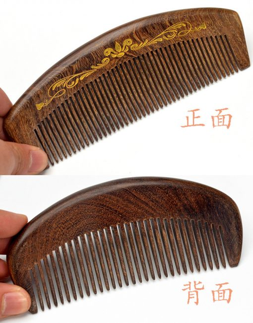 Genuine gold wire sandalwood boutique beauty health dense tooth comb wholesale GLGJ-202