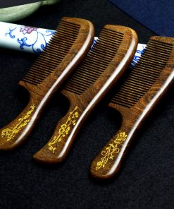 Genuine gold silk sandalwood boutique beauty health dense tooth comb wholesale mixed batch random shipment GLGJ-200