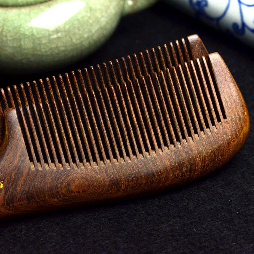 Genuine gold silk sandalwood boutique beauty health dense tooth comb wholesale mixed batch random shipment GLGJ-200