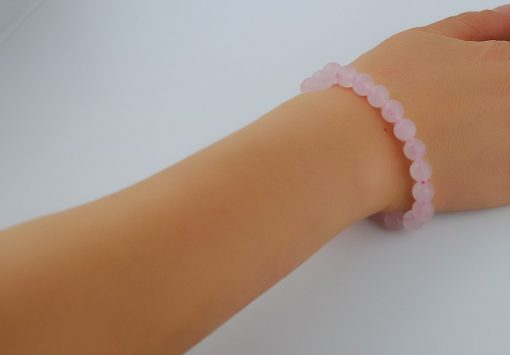 6-12MM natural stone bracelet-Madagascar powder crystal bracelet wholesale GLGJ-154