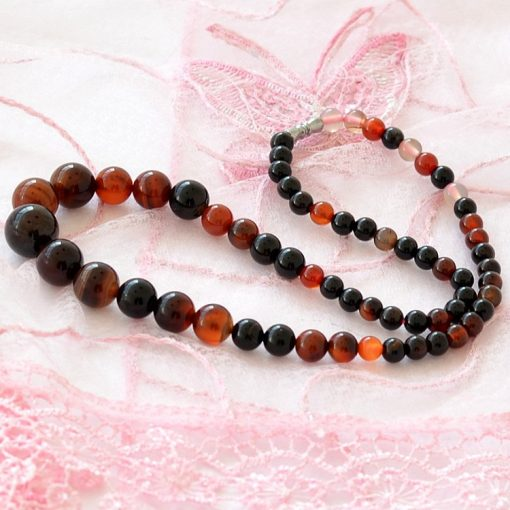 6-14mm Natural Dream Agate Necklace Tower Chain 18inch GLGJ-114