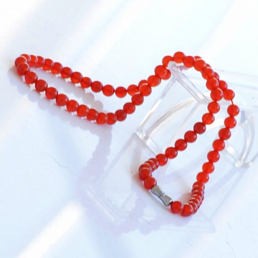 6mm natural female red agate necklace wholesale GLGJ-173