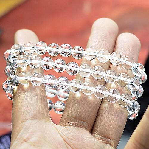 5-12mm transparent white crystal bracelet natural gemstone bracelet wholesale GLGJ-152