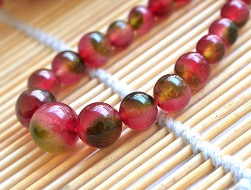 6-14mm Noble and elegant necklace of watermelon crystal gemstone tower chain GLGJ-164