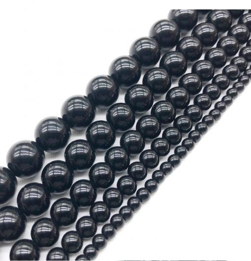 Hot selling Russian 6-12mm natural coal crystal ultra light radiation-proof DIY loose beads GLGJ-146
