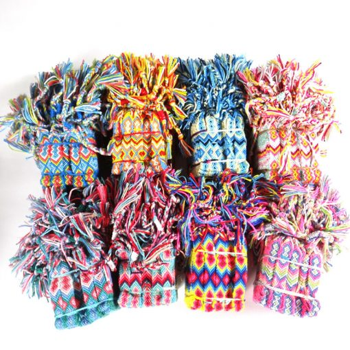 National wind color hand-woven cotton thread friendship bracelet exotic wind bracelet anklet mixed batch YY-272