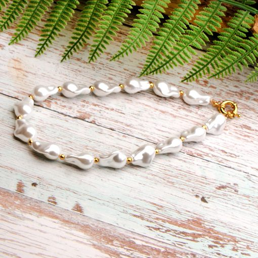 Selling imitation baroque shaped pearl necklace jewelry wholesale XH-223