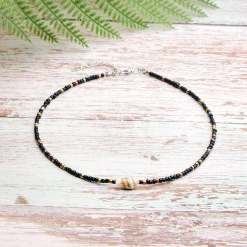 New batch of 3mm rice bead shell handmade beaded neck short necklace mixed batch XH-225