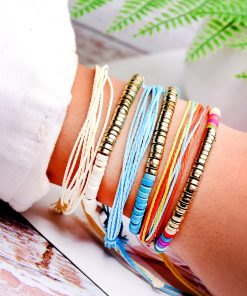 Popular Imitation Turquoise Hand Woven Friendship Hand Strap Set Accessories XH-259