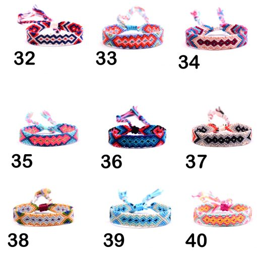 European and American best-selling series Rainbow Lucky Friendship Hand Rope Bohemian Ethnic Style Braided Bracelet Mixed Batch XH-247