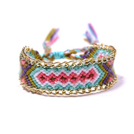 Bestselling woven lucky friendship bohemian ethnic style woven bracelet mixed batch 12pcs / bag XH-264