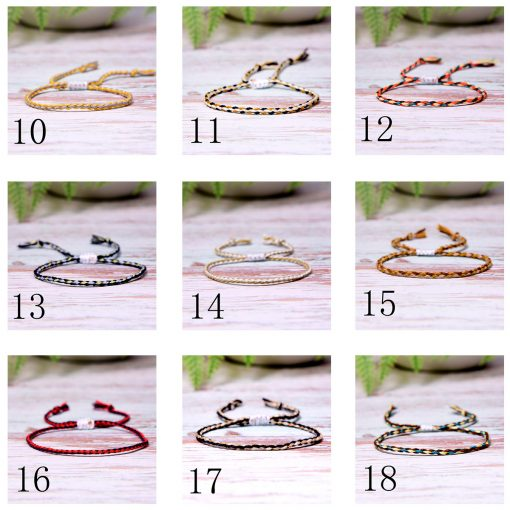 Summer hot bohemian style cotton thread woven bracelet beach friendship hand rope mixed batch XH-255