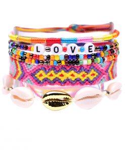 Woven Bracelet Alphabet Shell Set Friendship Bracelet Wholesale XH-271