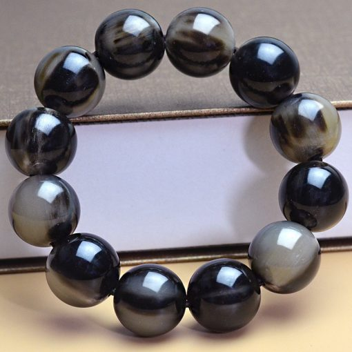 Authentic natural boutique horns health bracelet with clear lines and good oily GLGJ-212