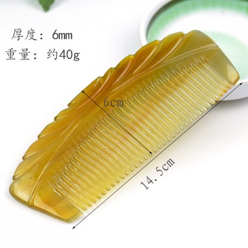 Natural boutique yellow horns moon-shaped comb gift selection GLGJ-207