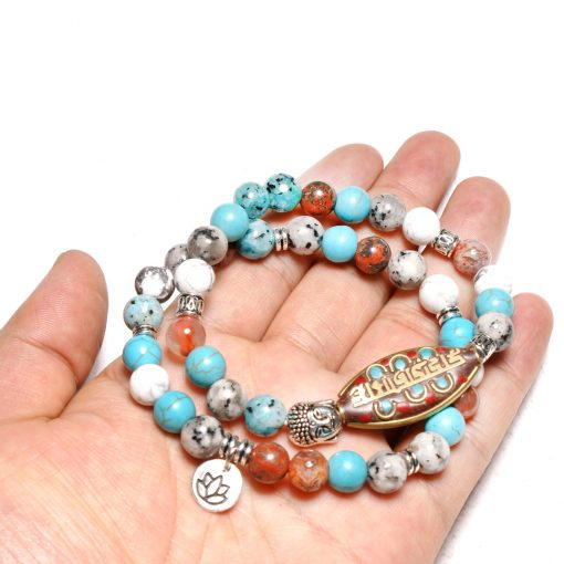 Best-selling natural stone two piece suit bracelet factory direct XH-257