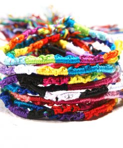 Nepalese ethnic hand-made rainbow bracelet lucky friendship hand rope 10pcs / bag XH-266