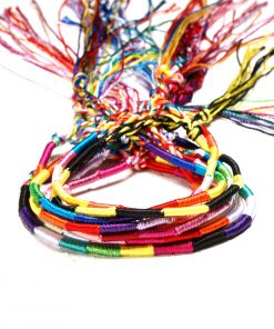 Popular Nepalese ethnic wind hand-knitted rainbow lucky friendship hand rope 10pcs a bag XH-260