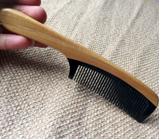 Natural boutique green sandalwood stitching horn comb health care health comb wholesale mixed batch GLGJ-208