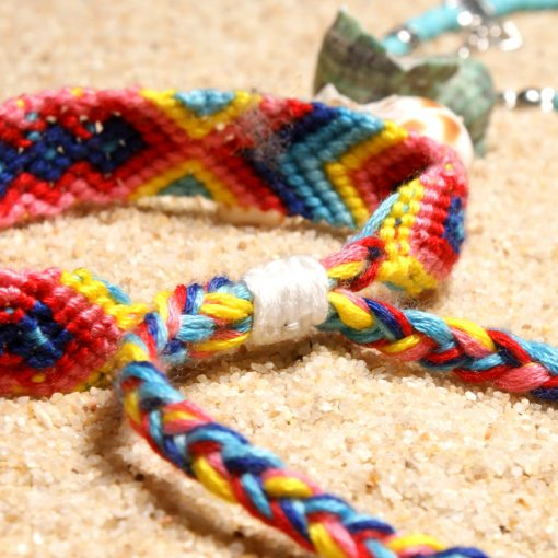 European and American best-selling conch starfish beach retro ethnic style woven ladies anklet hand  mixed batch XH-246